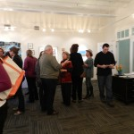 There were many interesting writers to talk with at the Community Meeting reception