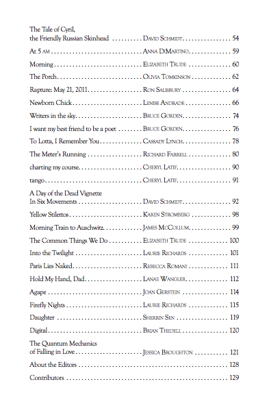 Table of Contents Vol 6 YII pg 2
