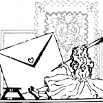 letter-writing-valentines-love public domain
