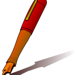 pen-ink-writing-red public domain